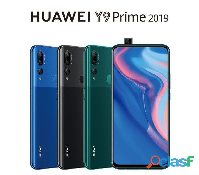 Huawei y9 prime 2019 128gb y 4gb de ram 4000 mah libre de fabrica sellado + obsequio