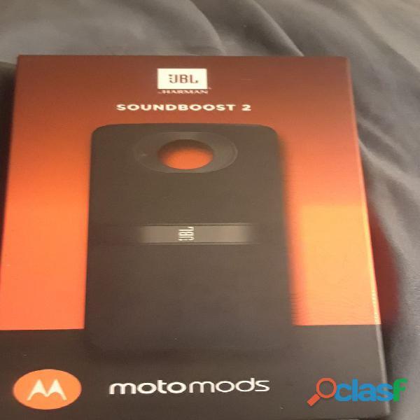 Moto mods jbl soundboost 2 sellado original nuevo en nabys shop perú