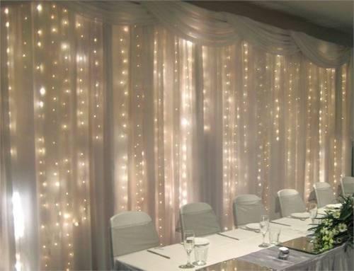 Luces led cortina 3x3 mt de 15 tiras decoración p/oferta