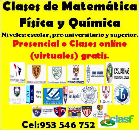 Profesor de Matemáticas, Física y Química a domicilio o en línea (gratis) cel 953546752 1