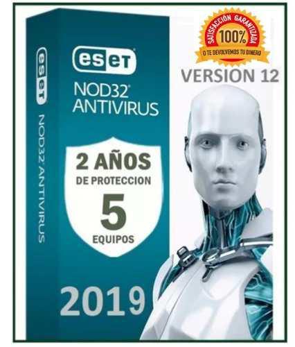Eset nod32 antivirus 2 año una licencia original (5pc) 2019