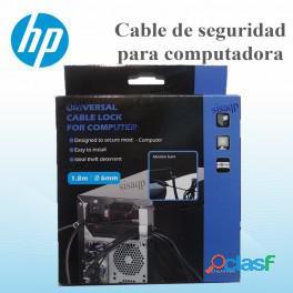 Cable de seguridad Hp para computadora modelo L2E14LA