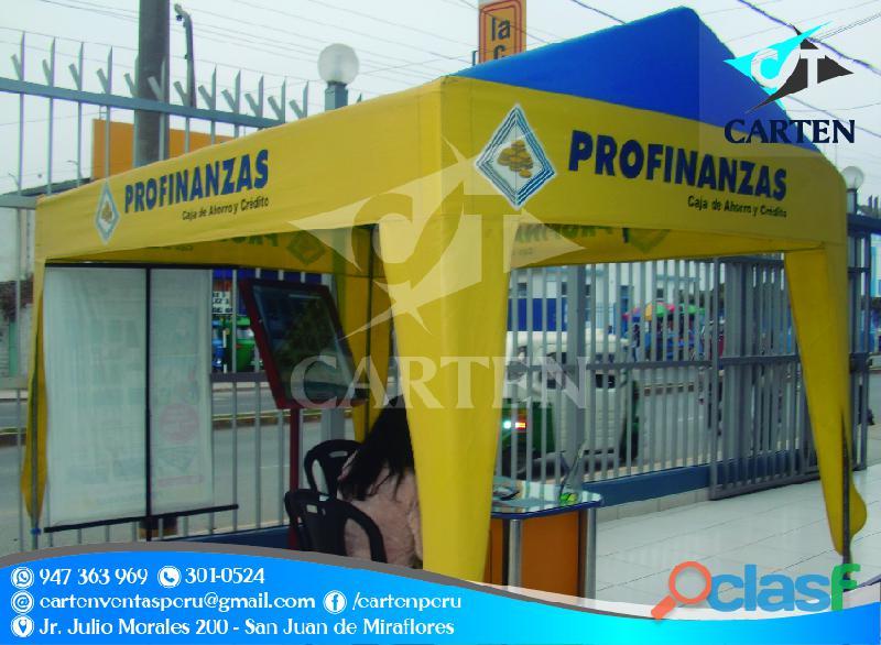 Toldos desarmables modelo casita carten perú