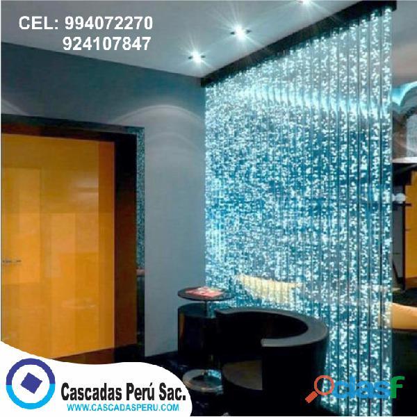 Panel de burbujas cortina de agua cascadas pileta fuentes