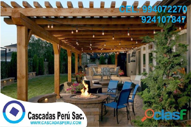 Se vende techos de madera sol y sombra variedad de modelos