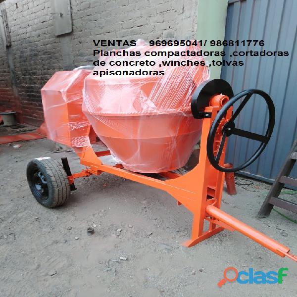 Mezcladora de concreto de 11p3 con motor gasolinero de 13 hp