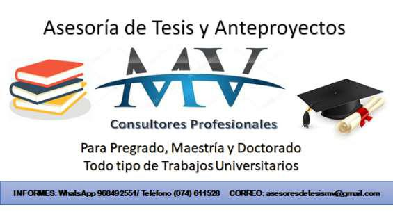 Asesoramiento de tesis en chiclayo