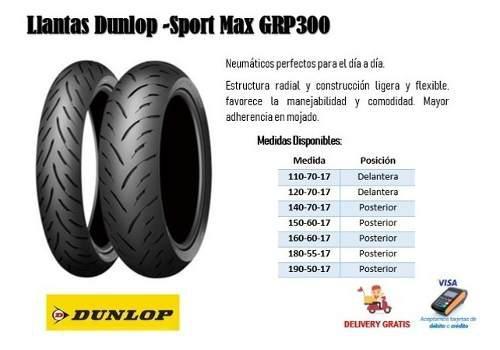 Llanta Dunlop - Sport Max Grp300 Para Motocicleta