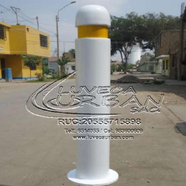 Bolardos metálicos y luminosos en Lima