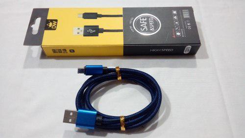 Cable micro usb a usb datos nylon flexible 1 metro