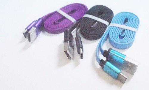 Cable tipo c 1m 2a en caja, rosada celestre y negro isc