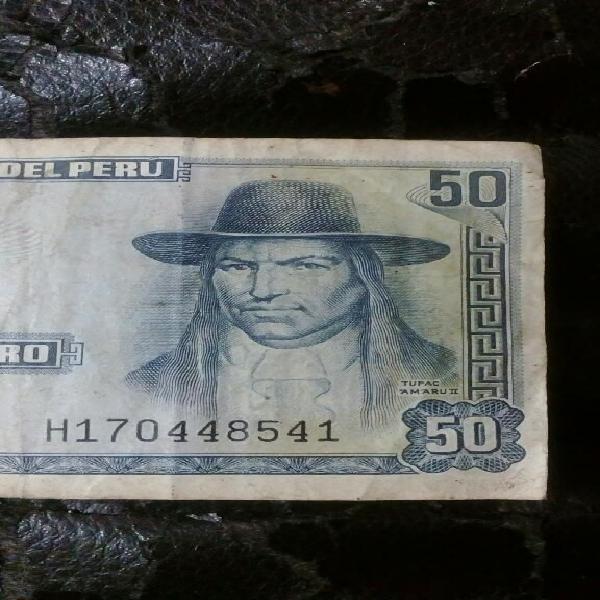 Vendo Billete Peruano 50 Soles