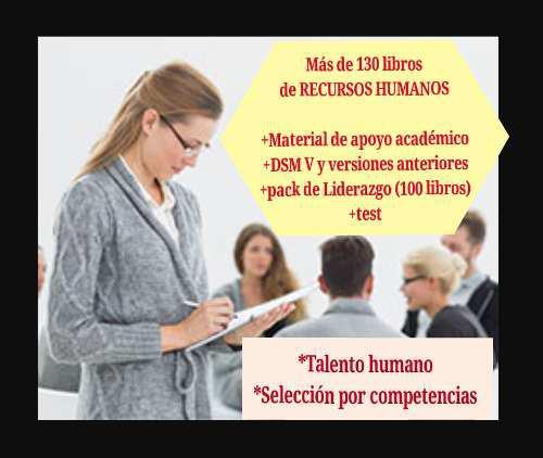130 libros de recursos humanos + test +pack liderazgo