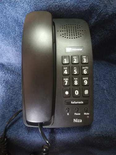 Telefono Basico Negro De Mesa - Movistar