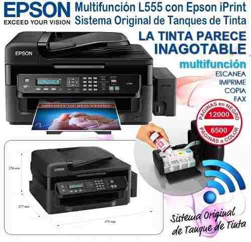 Impresora epson l555 ecotank multifuncional