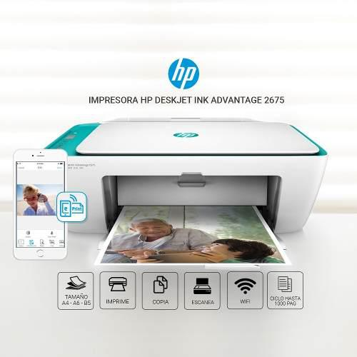 Impresora hp deskjet ink advantage 2675 wi fi