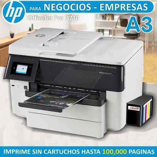 Impresora hp officejet pro 7740 con sistema continuo pro