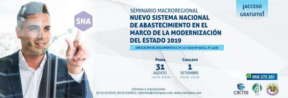 Seminario gratuito macroregional nuevo sistema nacional de