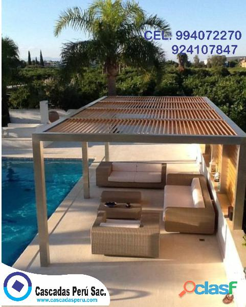 Modelos de techos de madera sol y sombra decorativos para jardín, patio, terrazas