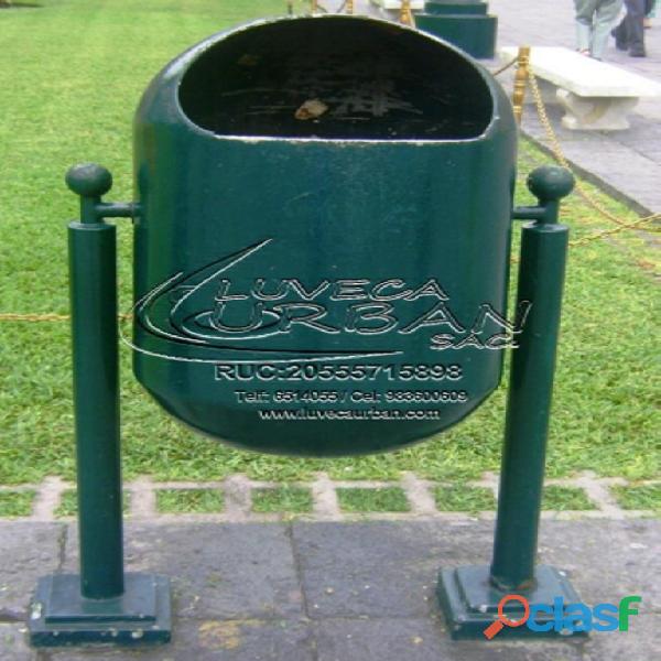 Tachos de basura metalicos