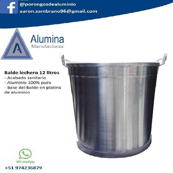 Baldes de alumino, porongos de alumino en arequipa