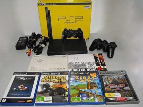 Playstation 2 con dos mandos juegos
