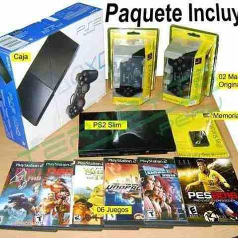 Playstation 2 + juegos de regalo + envio a domicilio