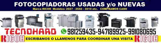 Fotocopiadoras ricoh nuevas o usadas en lima