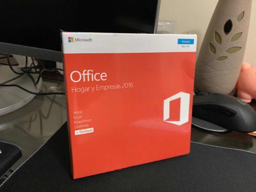 Microsoft office hogar y empresas 2016 / sellado