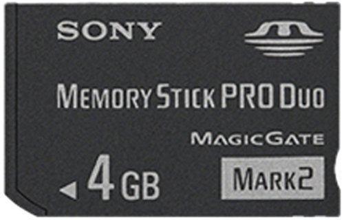Sony 4 gb memory stick produo msmt4g / tq1 (negro)