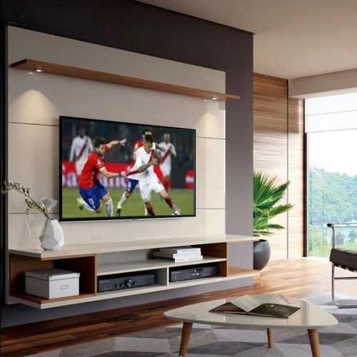 Centro de entretenimiento flotante tv con/sin luces led