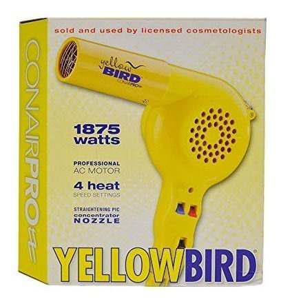 Secador de cabello conair pro yellow bird (modelo: yb075w)