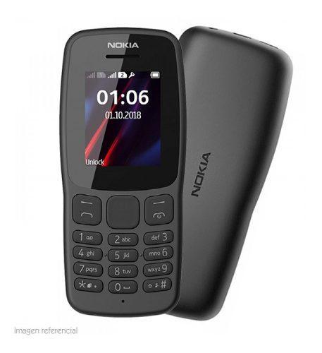 Celular teléfono básico nokia 106 1.8 gsm radio fm...