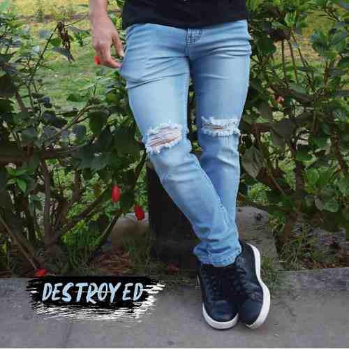 Jeans Rasgados Hombre Moda Urbana En Peru Clasf Moda Y Accesorios