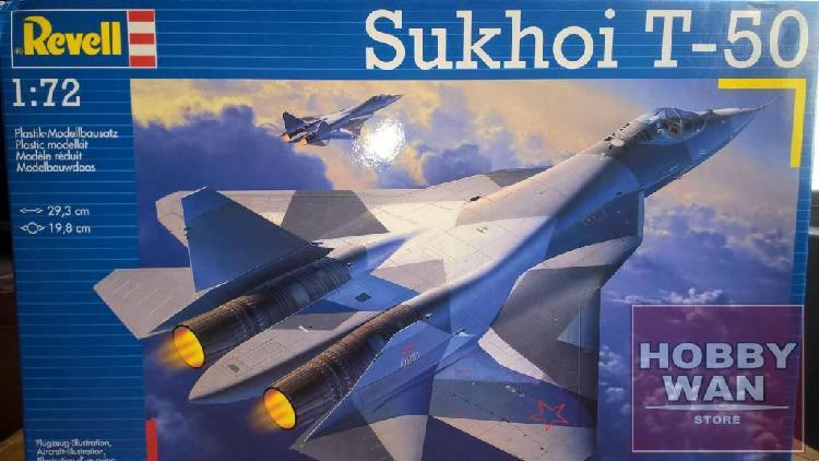 Avion sukhoi t50 pakfa escala 1/72 revell mig modelismo