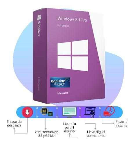 Licencia windows 8.1 professional original 1 pc