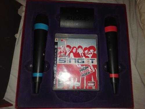Microfonos inalambricos - sing star - playstation + 2 juegos