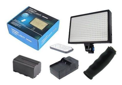 Luces video profesional 336 leds,control, bateria,cargador