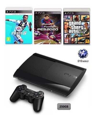 Ps3 250gb + 45 juegos digitales!! recibimos mercado pago!!!