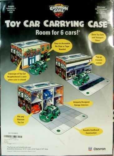 Chevron cars toy carrying case tiene capacidad para 6 vehicu