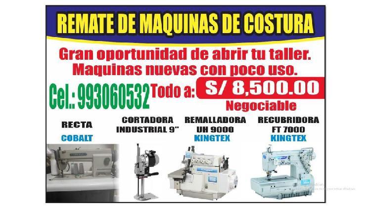 Maquinas de costura, confección textil -