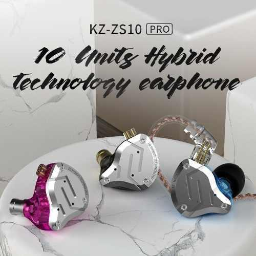 Auriculares originales kz zs10 pro (10 drivers en total).