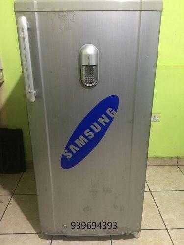 Refrigerador samsung gris (usado) congeladora - nevera
