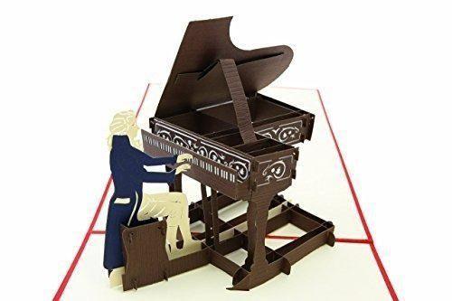 Poplife piano de cola tarjeta emergente para todas las ocasi