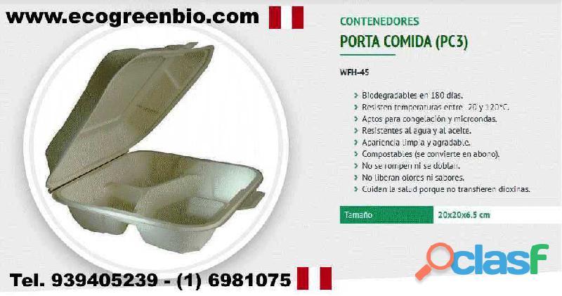 Envases biodegradables descartables lima peru pueblo libre