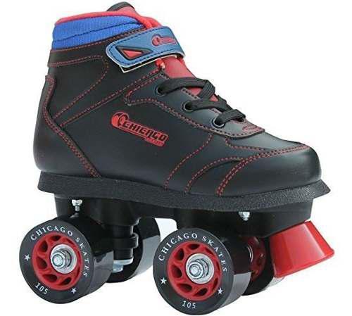 Chicago boys sidewalk roller skate black