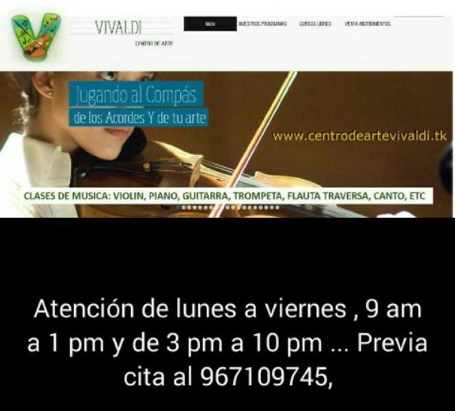 Clases piano violin guitarra canto etc