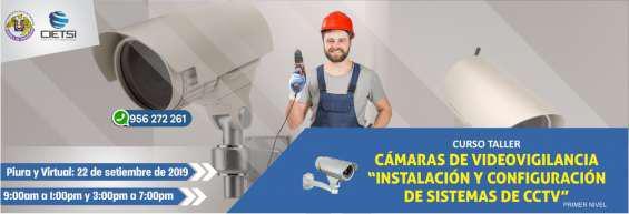 Curso taller cámaras de videovigilancia (primer nivel