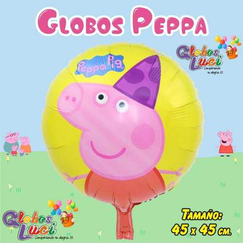 GLOBOS METALICOS PEPPA PIG, usado segunda mano  Peru (Todas las ciudades)