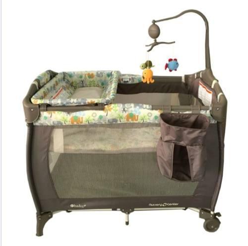 Cuna corral con movil musica y cambiador para bebe ebaby